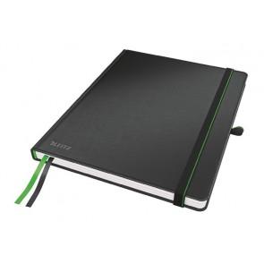 """Jegyzetfüzet, exkluzív, iPad méret, kockás, 80 lap, keményfedeles, LEITZ """"Complete"""", fekete"""
