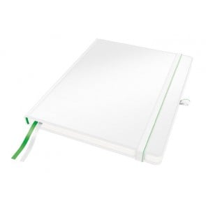 """Jegyzetfüzet, exkluzív, iPad méret, vonalas, 80 lap, keményfedeles, LEITZ """"Complete"""", fehér"""