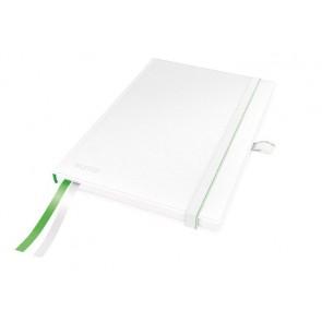 """Jegyzetfüzet, exkluzív, A5, vonalas, 80 lap, keményfedeles, LEITZ """"Complete"""", fehér"""