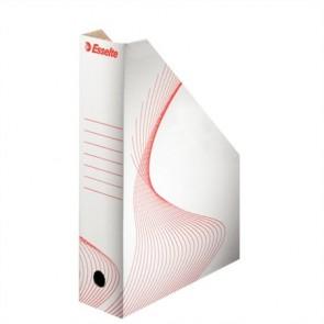 """Iratpapucs, karton, 80 mm, összehajtható, ESSELTE """"Standard"""", fehér"""