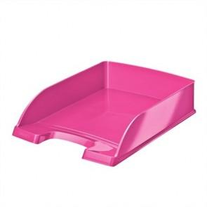 """Irattálca, műanyag, LEITZ """"Wow"""", metál rózsaszín"""