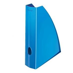 """Iratpapucs, műanyag, 60 mm, elöl nyitott, LEITZ """"Wow"""", metál kék"""