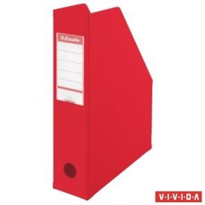 Iratpapucs, PVC/karton, 70 mm, összehajtható, ESSELTE, Vivida piros