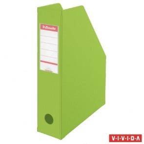 Iratpapucs, PVC/karton, 70 mm, összehajtható, ESSELTE, Vivida zöld
