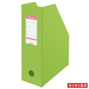 Iratpapucs, PVC/karton, 100 mm, összehajtható, ESSELTE, Vivida zöld