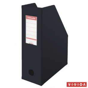 Iratpapucs, PVC/karton, 100 mm, összehajtható, ESSELTE, Vivida fekete