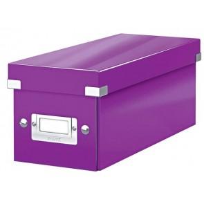 """CD tároló doboz, lakkfényű, LEITZ """"Click&Store"""", lila"""