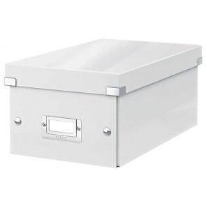 """DVD tároló doboz, lakkfényű, LEITZ """"Click&Store"""", fehér"""