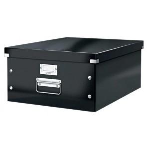 """Irattároló doboz, A3, lakkfényű, LEITZ """"Click&Store"""", fekete"""