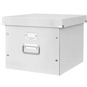 """Irattároló doboz, függőmappának, lakkfényű, LEITZ """"Click&Store"""", fehér"""