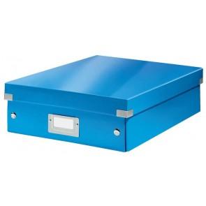 """Tárolódoboz, rendszerező, laminált karton, M méret, LEITZ """"Click&Store"""", kék"""