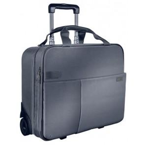 """Utazótáska, gurulós, LEITZ """"Complete Smart Traveller"""", ezüst"""