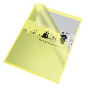 """Genotherm, """"L"""", A4, 105 mikron, narancsos felület, ESSELTE """"Standard"""", sárga"""