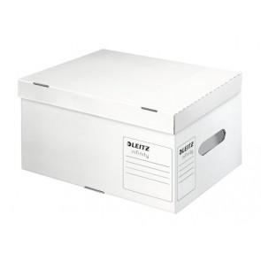 """Archiváló konténer, S méret, újrahasznosított karton, LEITZ """"Infinity"""", fehér"""