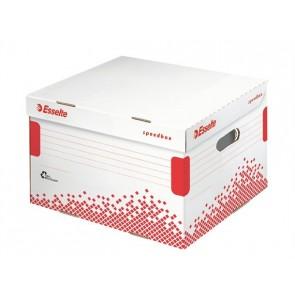 """Archiváló konténer, L méret, újrahasznosított karton, ESSELTE """"Speedbox"""", fehér"""