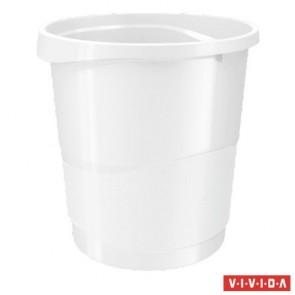 "Papírkosár, 14 liter, ESSELTE ""Europost"", Vivida fehér"