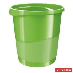 "Papírkosár, 14 liter, ESSELTE ""Europost"", Vivida zöld"
