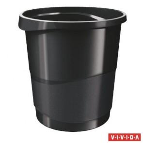 """Papírkosár, 14 liter, ESSELTE """"Europost"""", Vivida fekete"""