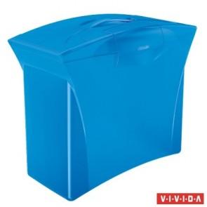 """Függőmappa tároló, műanyag, 5 db függőmappával, mobil, ESSELTE """"Europost"""", Vivida kék"""