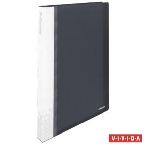 """Bemutatómappa, 40 zsebes, A4, feliratozható, kemény borító, ESSELTE """"Vivida"""", fekete"""