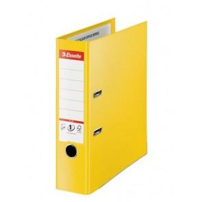 "Iratrendező, 80 mm, A4, PP, élvédő sínnel, ESSELTE ""Standard Plus"",  Vivida sárga"