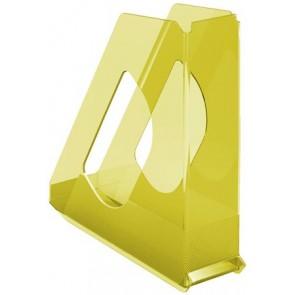 """Iratpapucs, műanyag, 68 mm, ESSELTE """"Colour` Ice"""", sárga"""