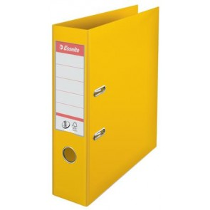 "Iratrendező, 75 mm, A4, PP, élvédő sínnel, ESSELTE ""Standard"", sárga"