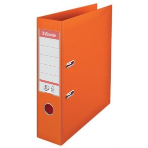"""Iratrendező, 75 mm, A4, PP, élvédő sínnel, ESSELTE """"Standard"""", narancssárga"""