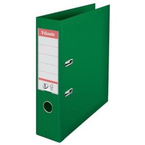 "Iratrendező, 75 mm, A4, PP, élvédő sínnel, ESSELTE ""Standard"", zöld"