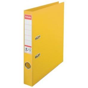 "Iratrendező, 50 mm, A4, PP, élvédő sínnel, ESSELTE ""Standard"", sárga"