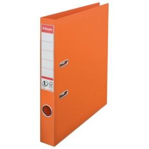 """Iratrendező, 50 mm, A4, PP, élvédő sínnel, ESSELTE """"Standard"""", narancssárga"""