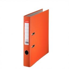 """Iratrendező, 50 mm, A4, PP/karton, élvédő sínnel, ESSELTE """"Economy"""", narancssárga"""