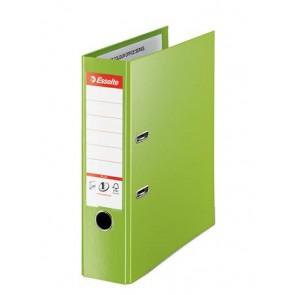 "Iratrendező, 80 mm, A4, PP, élvédő sínnel, ESSELTE ""Standard Plus"", Vivida zöld"