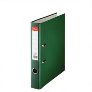 """Iratrendező, 50 mm, A4, PP/karton, élvédő sínnel, ESSELTE """"Economy"""", zöld"""