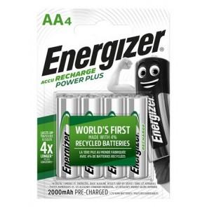 """Tölthető elem, AA ceruza, 4x2000 mAh, ENERGIZER """"Power Plus"""""""