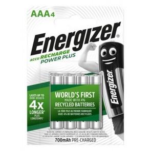 """Tölthető elem, AAA mikro, 4x700 mAh, ENERGIZER """"Power Plus"""""""