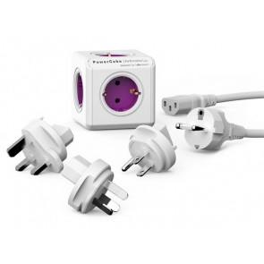 """Elosztó, 5 aljzat, ALLOCACOC """"PowerCube ReWirable + 3x plug +IEC EU cable DE"""""""