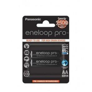 """Tölthető elem, AA ceruza, 2x2500 mAh, előtöltött, PANASONIC """"Eneloop Pro"""""""