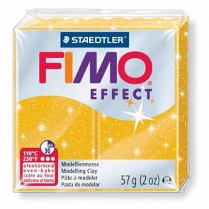 """Gyurma, 57 g, égethető, FIMO """"Effect"""", csillámos arany"""