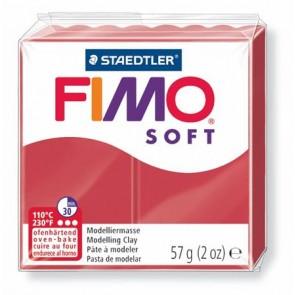 "Gyurma, 56 g, égethető, FIMO ""Soft"", meggy piros"