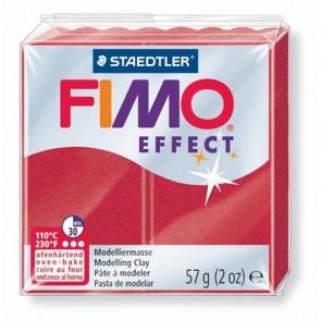 """Gyurma, 56 g, égethető, FIMO """"Effect"""", metál rubin"""