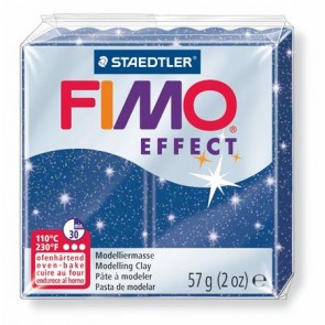 "Gyurma, 56 g, égethető, FIMO ""Effect"", csillámos kék"
