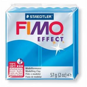 """Gyurma, 56 g, égethető, FIMO """"Effect"""", áttetsző kék"""