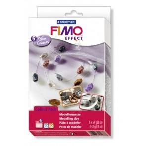 """Gyurma készlet, 6x57 g, égethető, FIMO """"Effect Material Pack"""", fényes színek"""