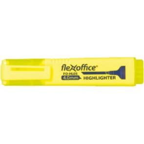 """Szövegkiemelő, 4,0 mm, FLEXOFFICE """"HL05"""", sárga"""