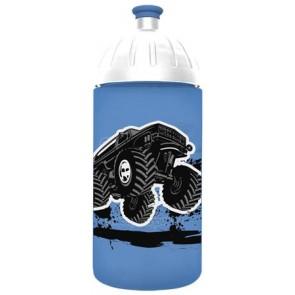 "Kulacs, higiénikus műanyagból, 0,5L, FREEWATER ""Monster truck"", kék"