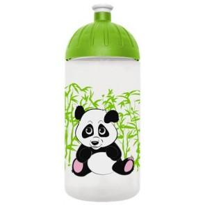 """Kulacs, higiénikus műanyagból, 0,5L, FREEWATER """"Panda"""", átlátszó"""