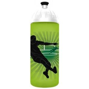 "Kulacs, higiénikus műanyagból, 0,7L, FREEWATER ""Focista"", zöld"