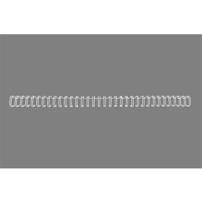 "Spirál, fém, 3:1, 12,5 mm, 115 lap, GBC ""WireBind"", ezüst"