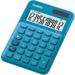 """Számológép, asztali, 12 számjegy, CASIO, """"MS 20 UC"""", kék"""